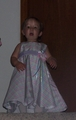 Mary in her Easter dress.